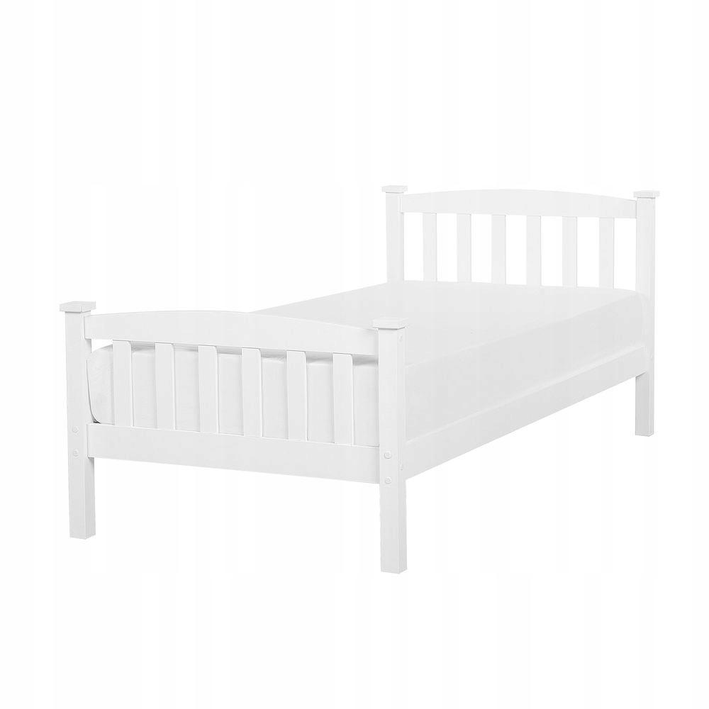 Łóżko drewniane 90 x 200 cm białe GIVERNY