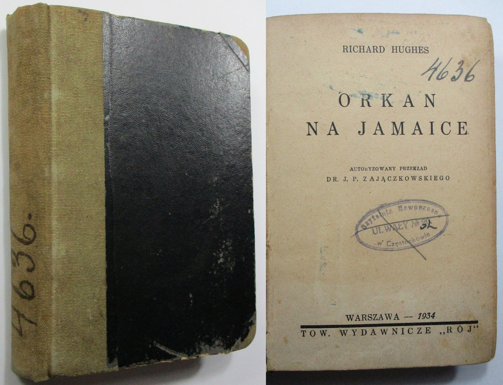 Orkan na Jamaice, Richard Hughes, 1934