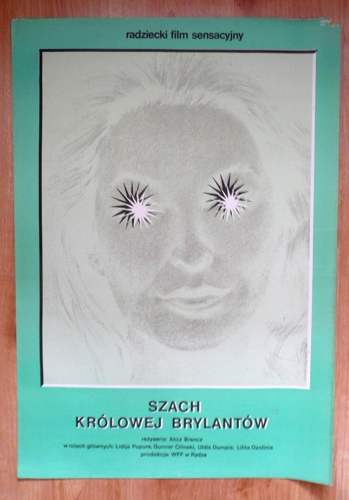 """Plakat filmowy """"Szach królowej .."""" 1974"""
