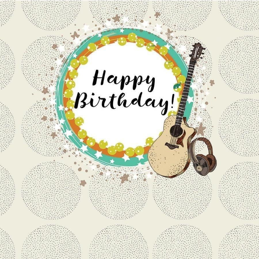 Karnet kwadrat CL0209 Urodziny gitara
