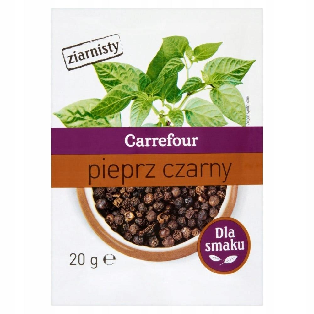 Carrefour Pieprz czarny ziarnisty 20 g