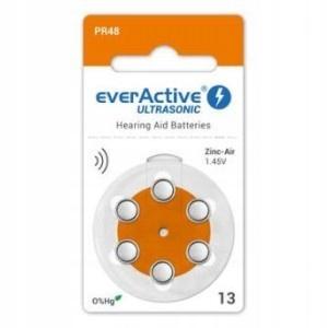 60 baterii do aparatów słuchowych EVERACTIVE 13