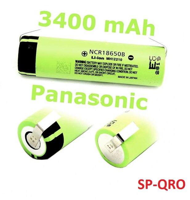 Nowy Panasonic NCR18650B 3400mAh z blaszkami F-Vat