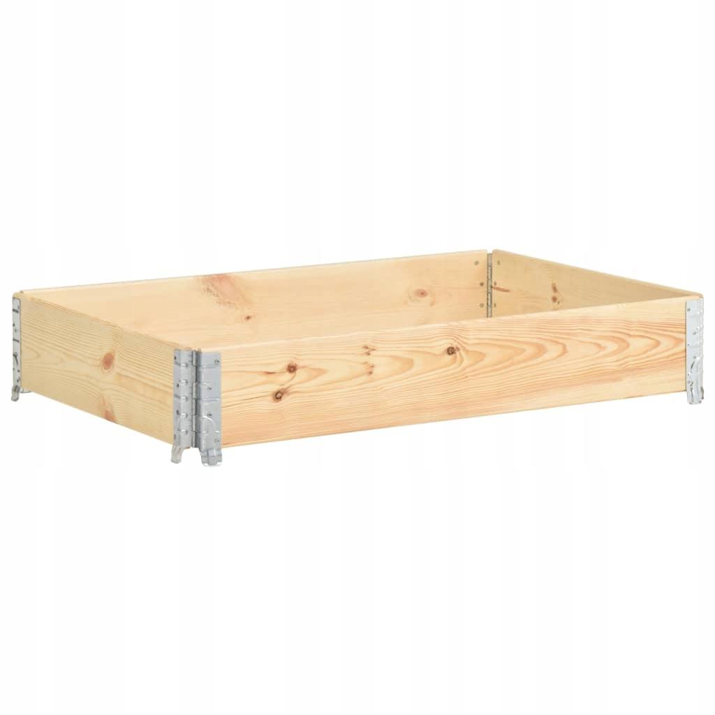 Nadstawka paletowa, 80x120 cm, lite drewno sosnowe
