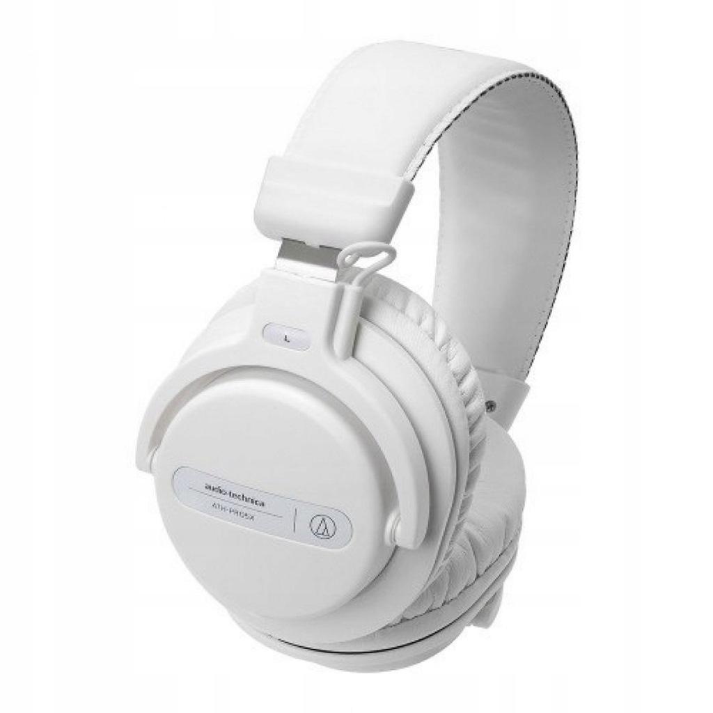 Słuchawki bezprzewodowe Audio Technica DJ, białe