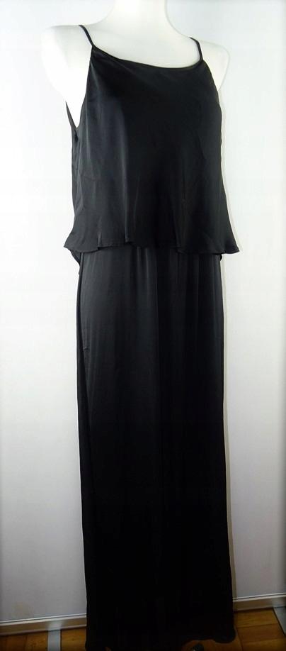 9_ MARKS&SPENCER sukienka CZARNA maxi 38/M