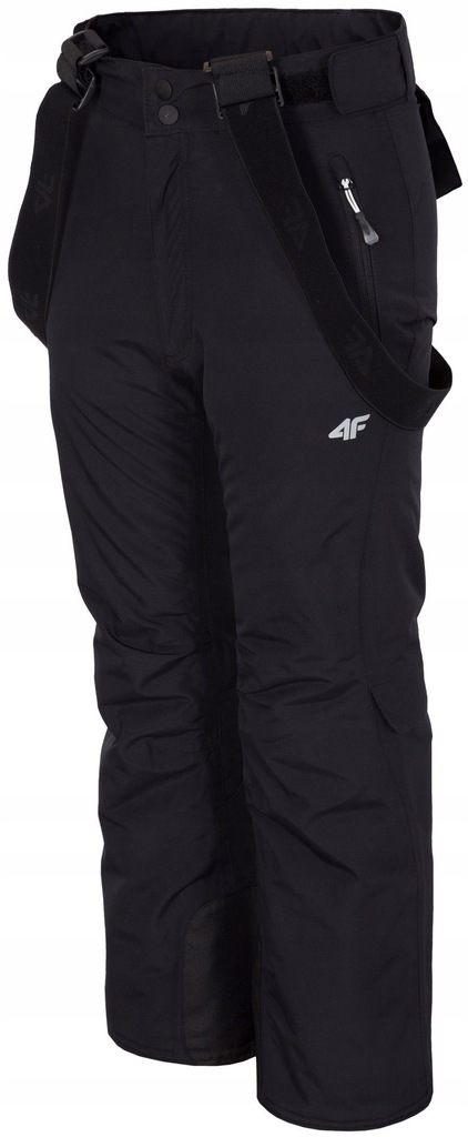 Spodnie narciarskie dziecięce zimowe 4F czarne 146