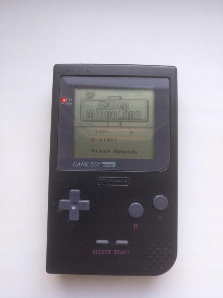 MGB Gameboy Pocket black + Super Mario Land