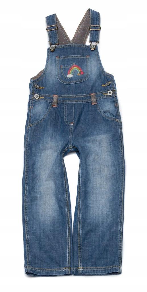 BS249 Jeansowe ogrodniczki MOTHERCARE 110