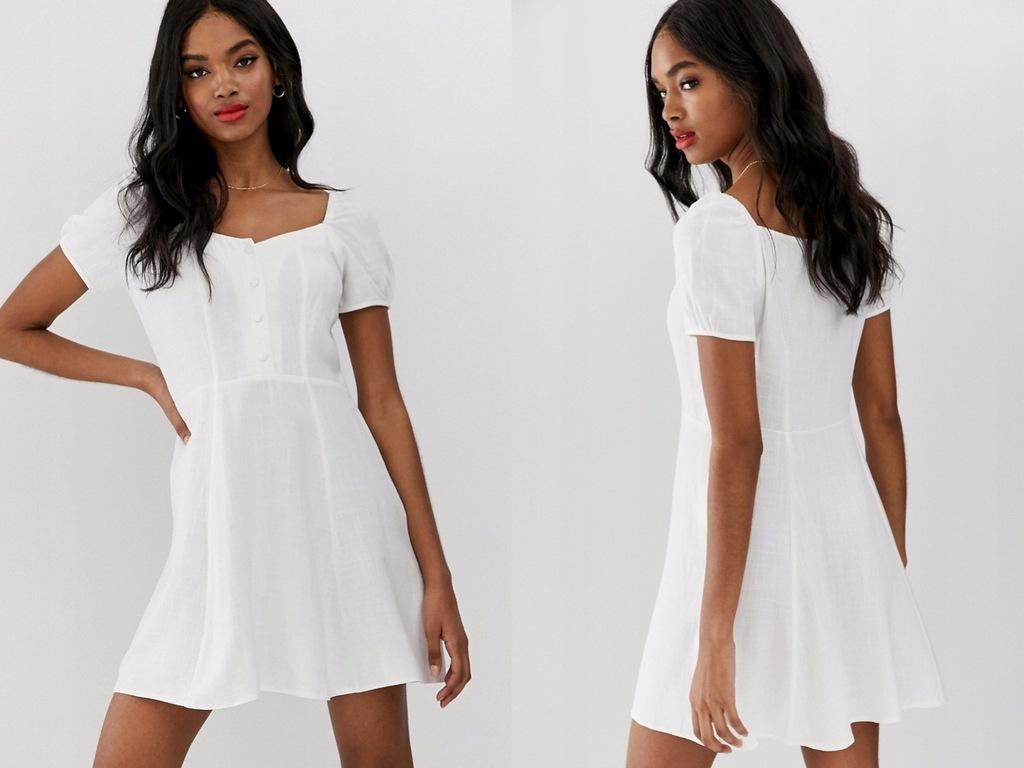 New Look Sukienka mini w kolorze białym XL/42