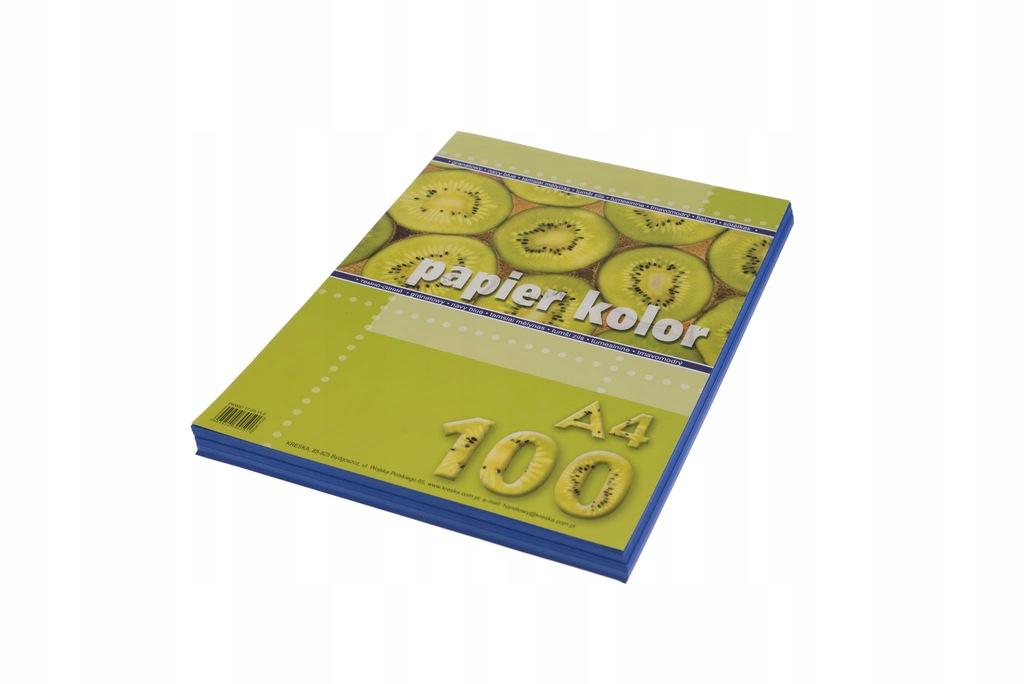 Papier kolor A4 80g/m2 granatowy op. 100 ark., Kre