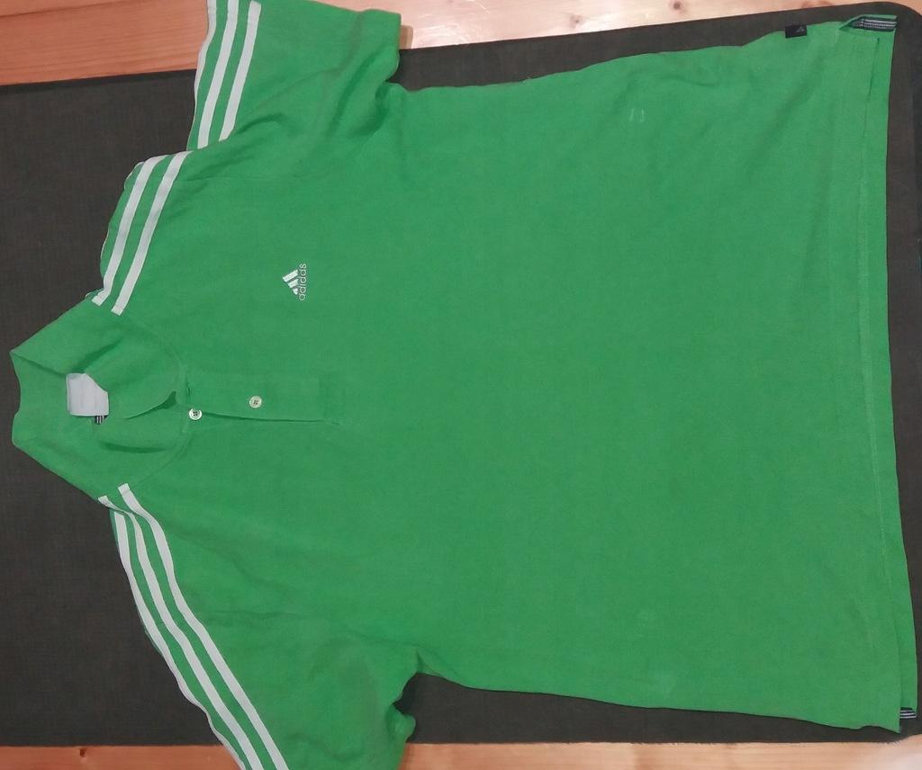 koszulka polo adidas zielona green L