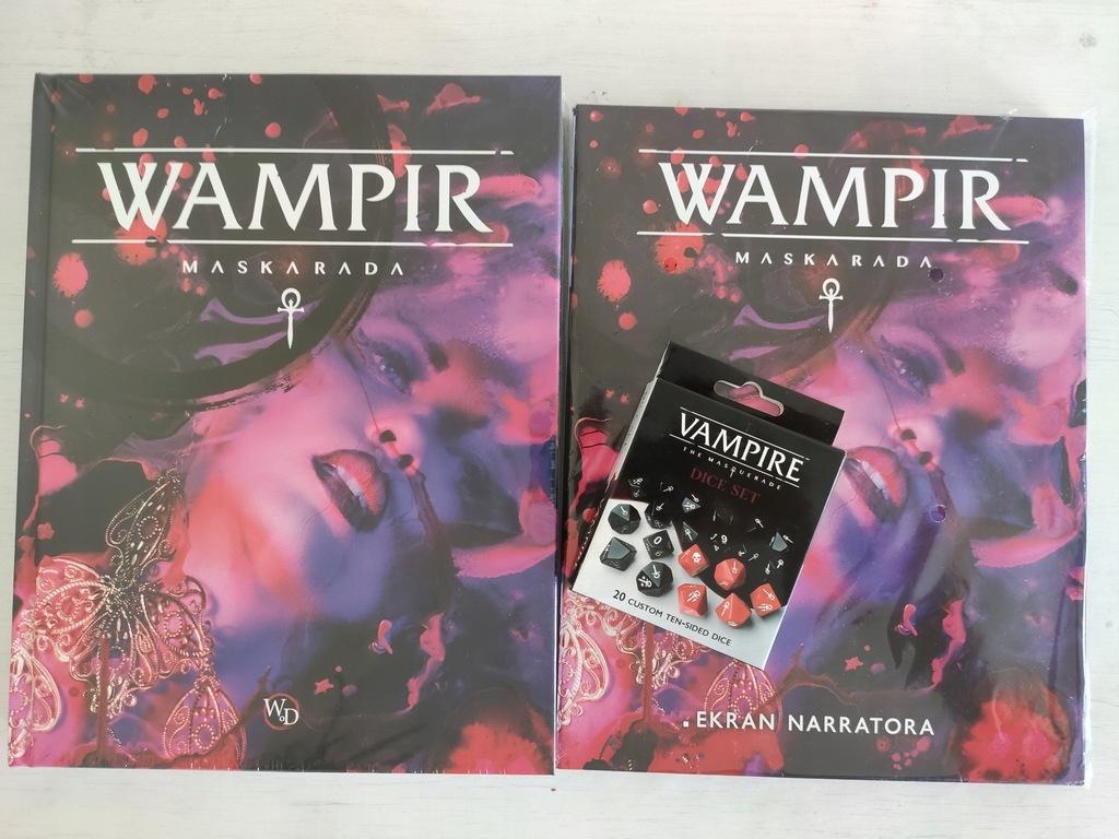 Wampir Maskarada, podręcznik + ekran, kości, folia