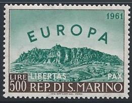 SAN MARINO 1961 EUROPA WIDOK Michel 700 ** 30€ BCM