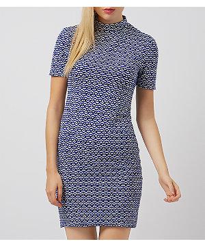 NEW LOOK mini sukienka bodycon z teksturą XL