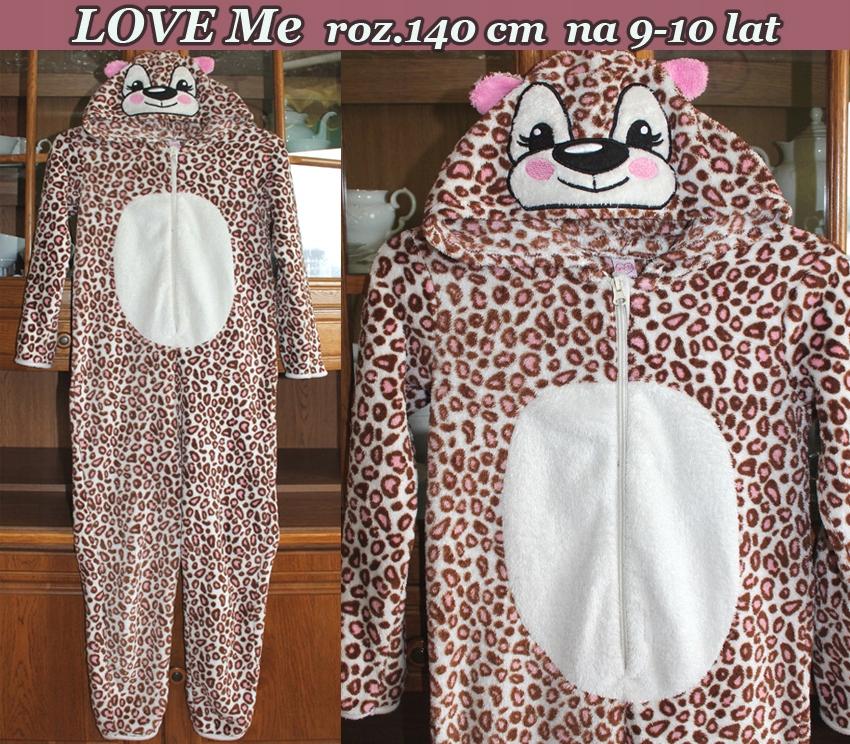 Tygryskowa Jednoczęściowa piżamka na 9-10 lat