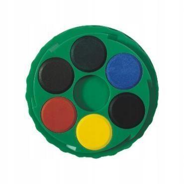 Farby akwarelowe 24 kolory okrągłe akwarele