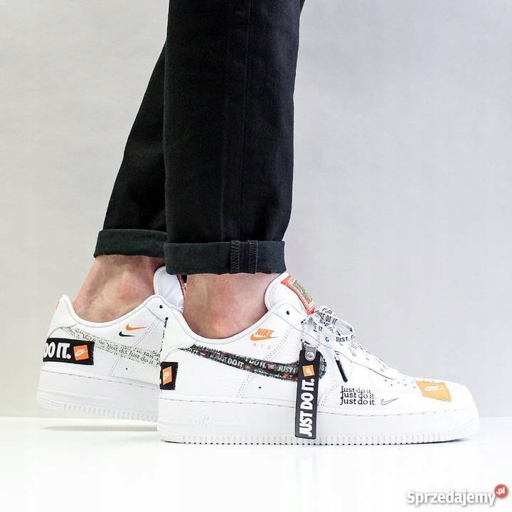 Nike Air Force 1 07 PRM JDI JUST DO IT BIAŁE
