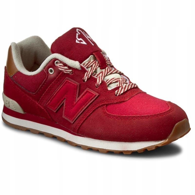 BUTY SNEAKERSY NEW BALANCE KL574NJG r.37 czerwone