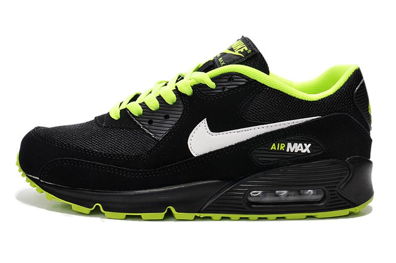 Buty Męskie Nike Air Max 90 Czarne Zielone, NIKE AIR MAX 90