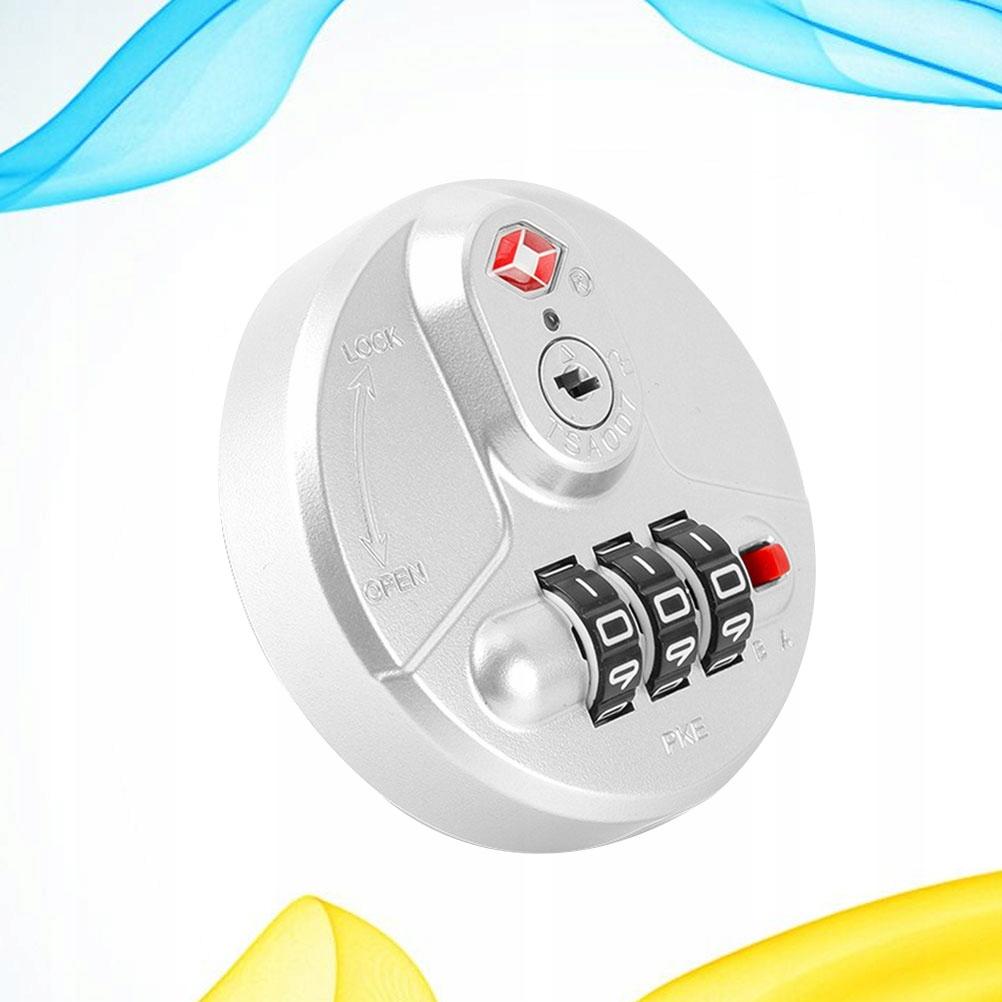 Round Customs Code Lock Practical PC Fixation Pass