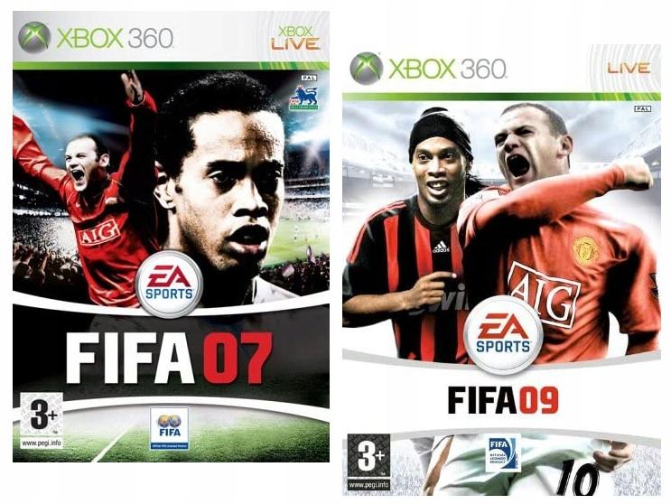 Zestaw Fifa 07 Fifa 09 Xbox 360 9675116190 Oficjalne Archiwum Allegro