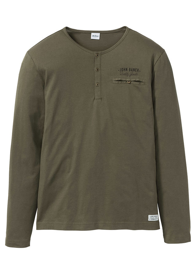 Shirt z długim rękawem zielony 56/58 (XL) 967142