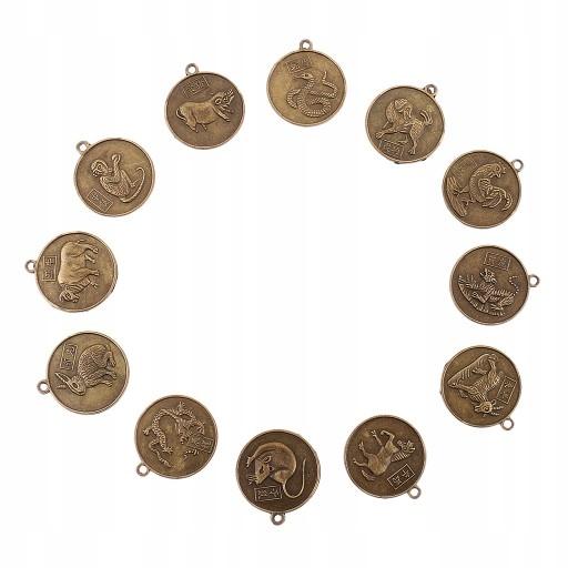 Chinese Zodiac Coin Brązowy