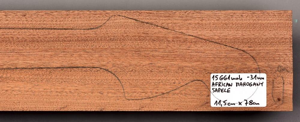 Drewno MAHOŃ na gryf gitary, 31mm, 15GG1mah
