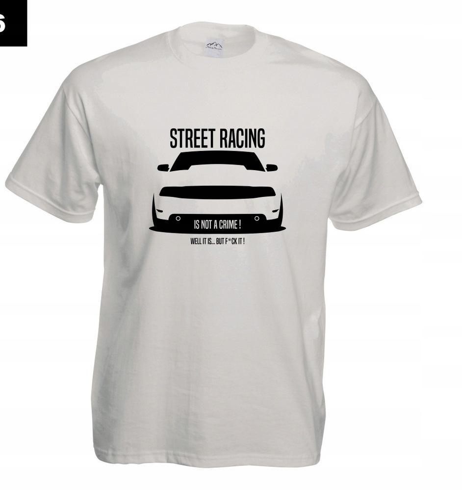 Koszulka z nadrukiem STREET RACING rozm.S MT306