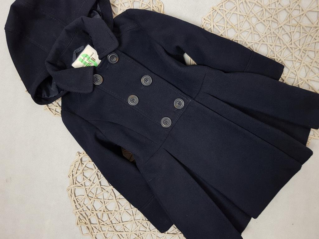 Mini B Płaszcz flausz Kaptur Rozkloszowany 110