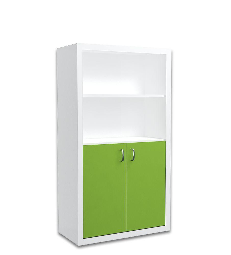 Regał 90cm dla dziecka w kolorze biało-zielonym