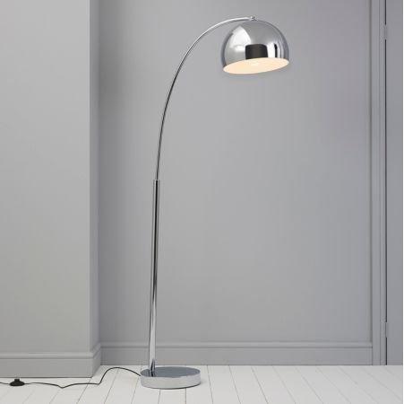 lampy stojące srebrne do sypialni