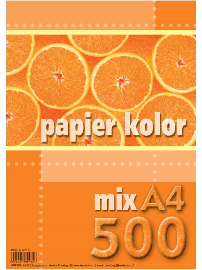 PAPIER KSERO KOLOR A4/500 MIX KRESKA