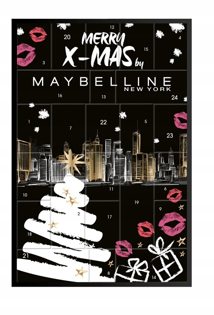 Kalendarz Adwentowy Maybelline Z Kosmetykami 2019 8626168592 Oficjalne Archiwum Allegro