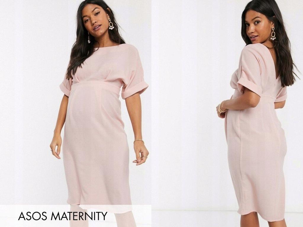 DESIGN Maternity Różowa sukienka midi XL/42