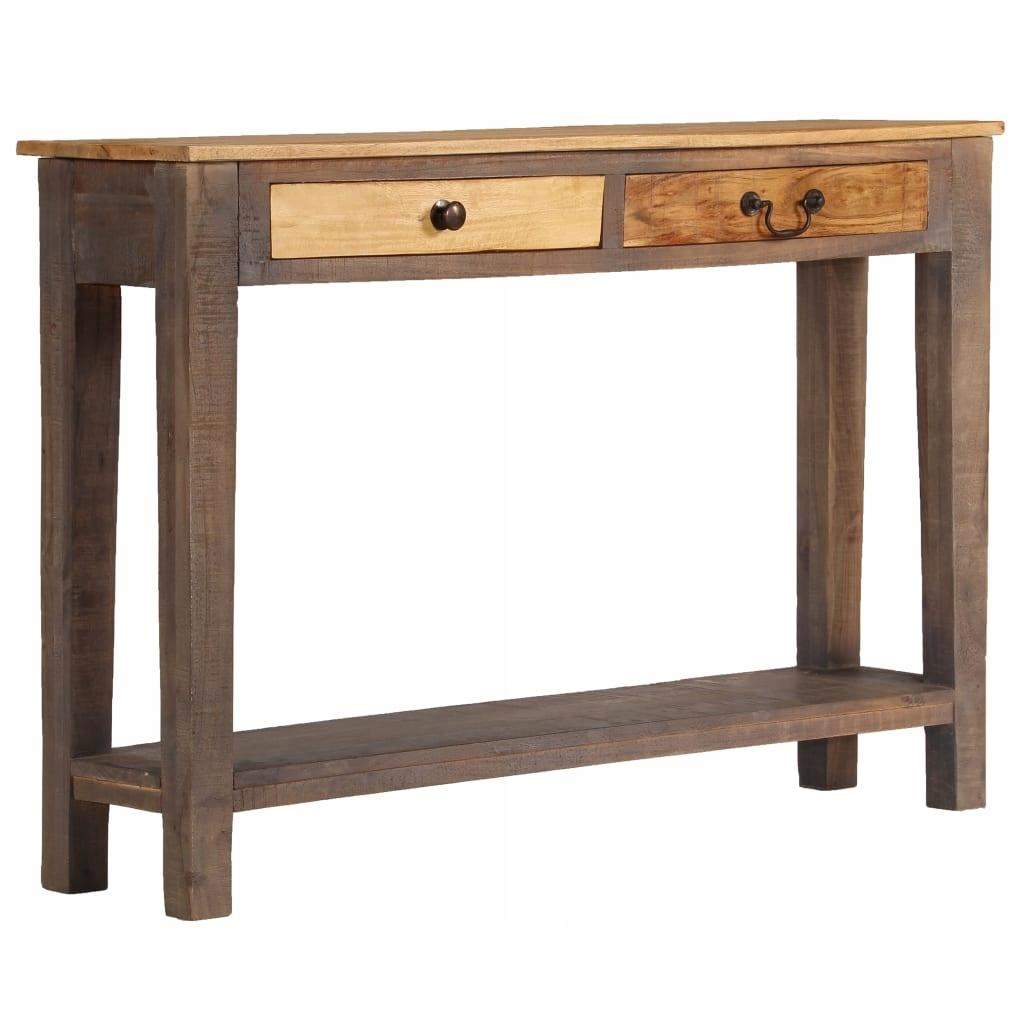 Stolik typu konsola z litego drewna, vintage, 118