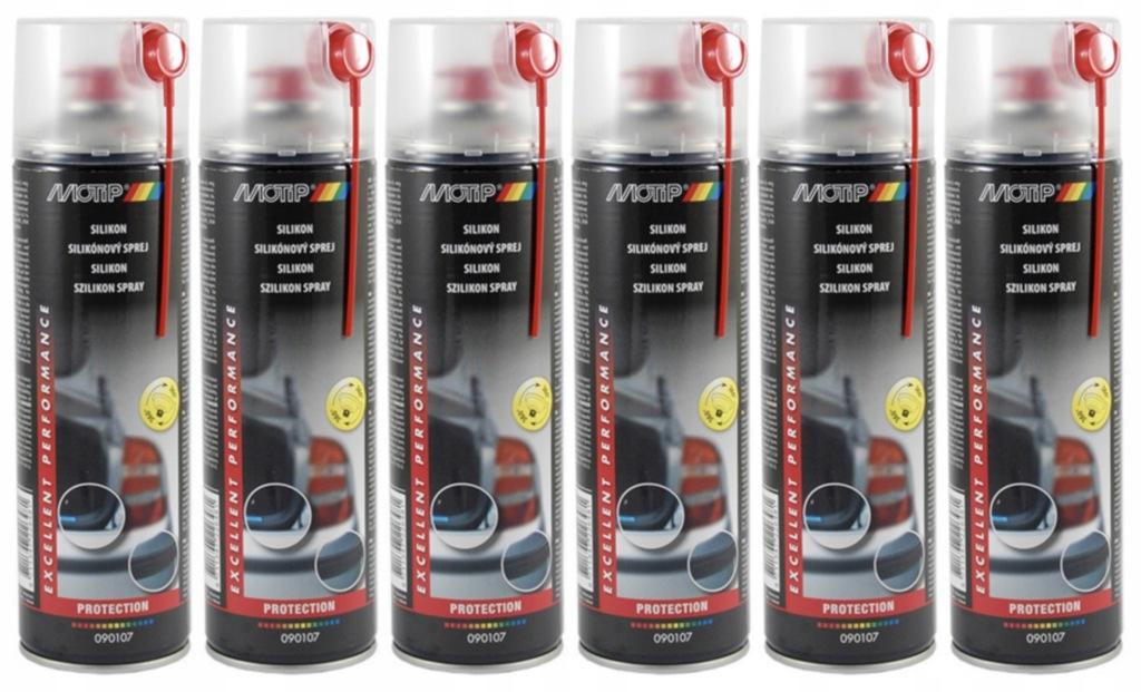 Olej silikonowy smar MOTIP spray 500ml 6szt