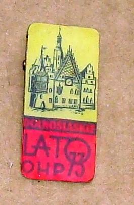 Wrocław Ratusz Dolnośląskie Lato OHP 1973 -wpinka.