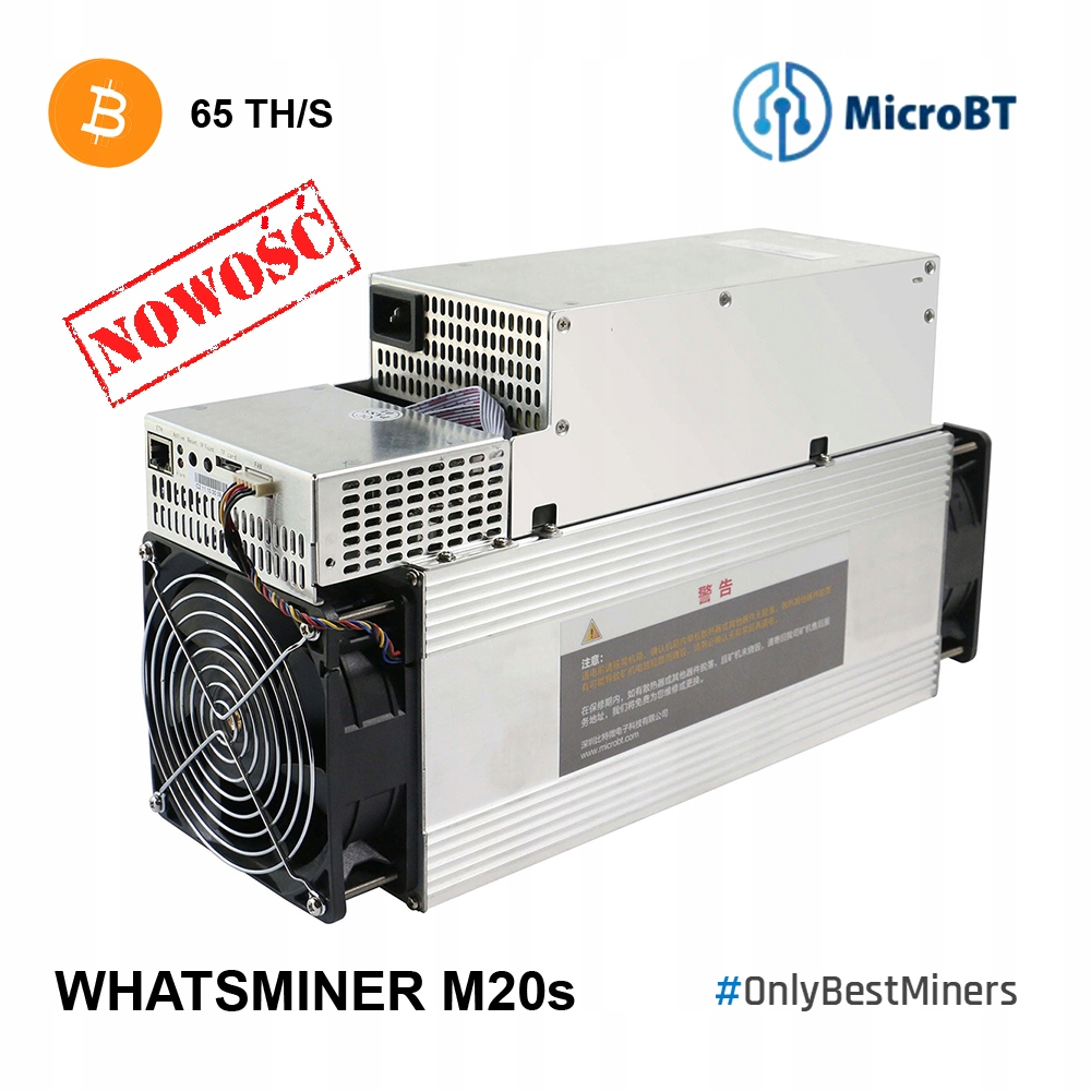 Antminer OD RĘKI! Whatsminer MicroBT M20s 65th S17