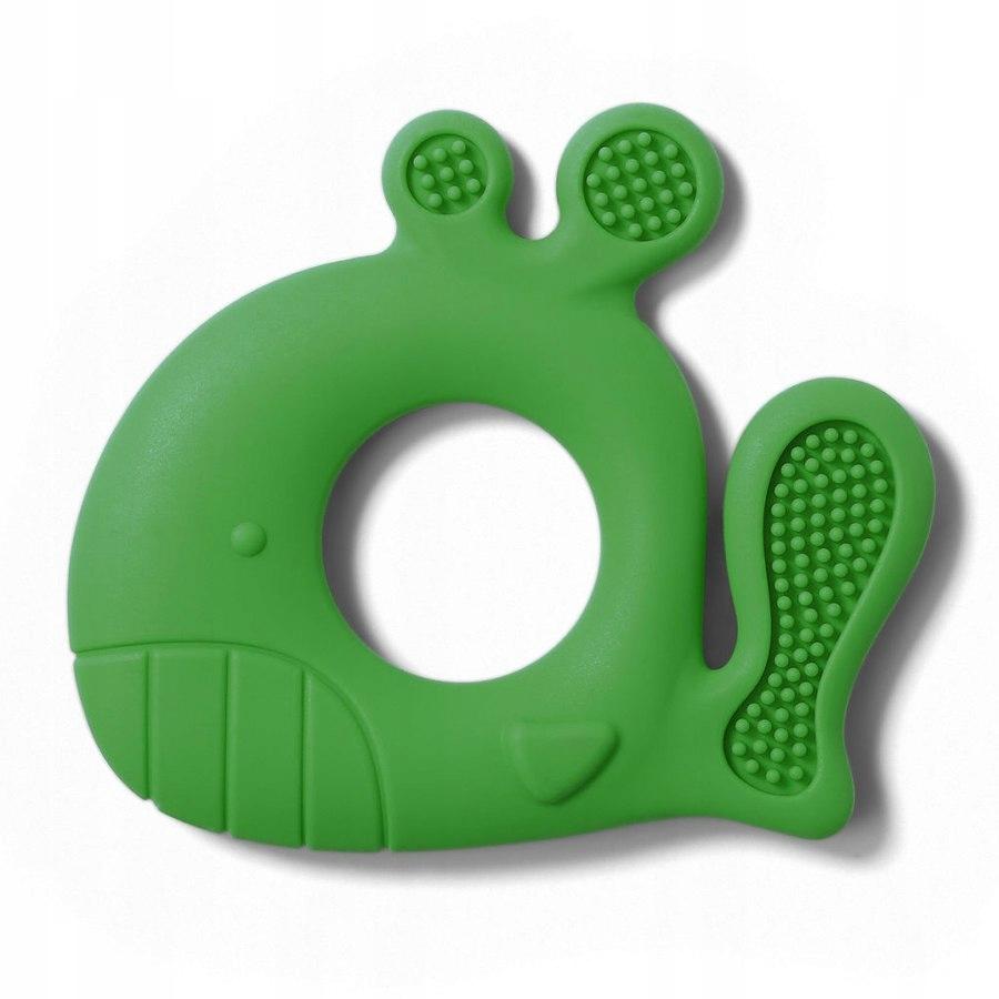 B.O.935/02 Gryzak silikonowy WHALE PABLO zielony