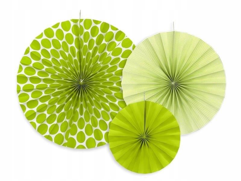 Rozety dekoracyjne, zielone jabłuszko, 3 szt