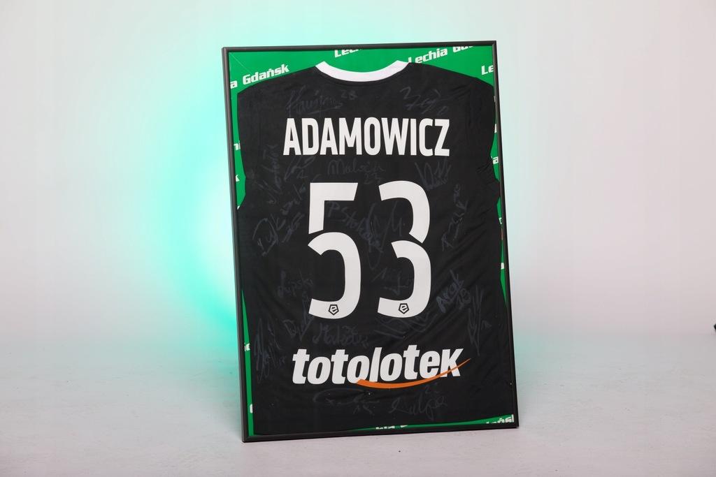 Unikatowa koszulka Lechii Gdańsk z autografami!