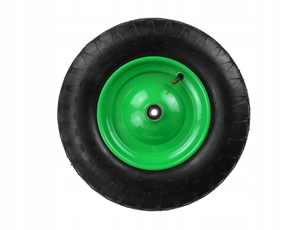 Koło do taczki 4.00-8 4PR/bieżnik romb,f.zielona