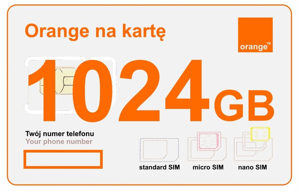 Karta SIM Orange Internet LTE 365 DNI ROK