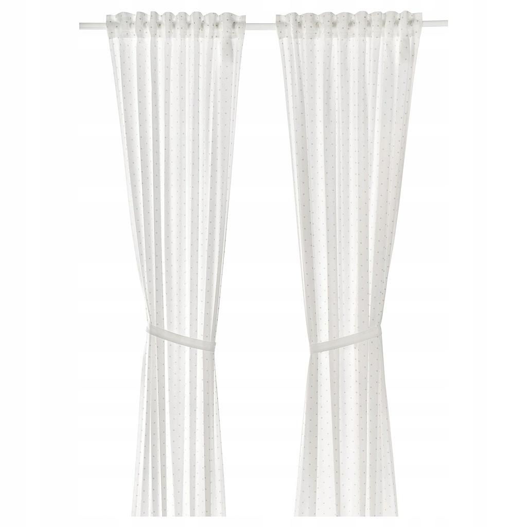 IKEA LEN Zasłona z wiązaniem 2 szt 120x300 cm