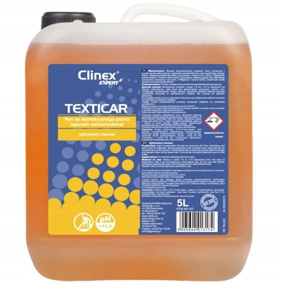TEXTICAR płyn do prania tapicerki samochodowej 5L+