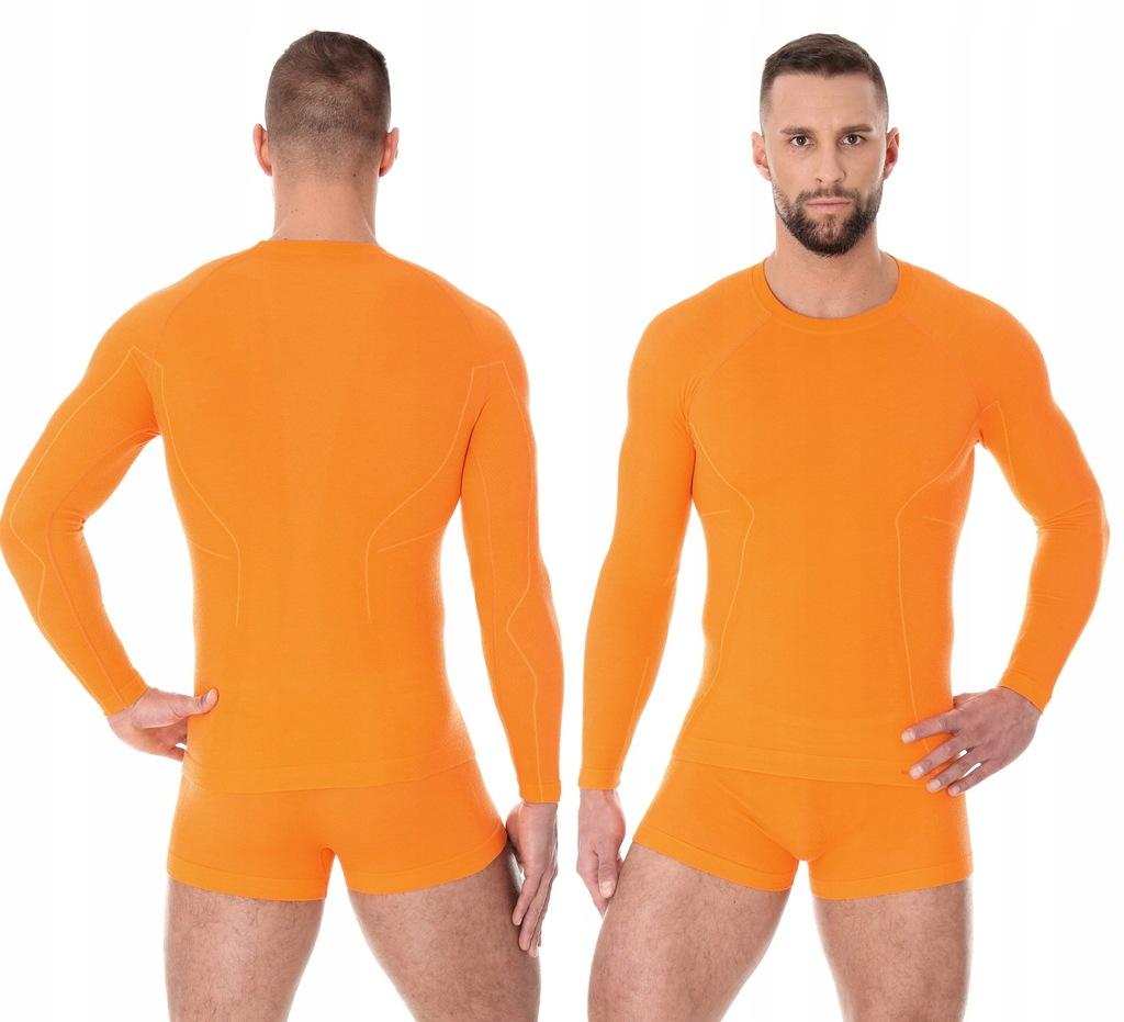 XXL-BEZSZWOWA koszulka BRUBECK Active Wool Men Pom