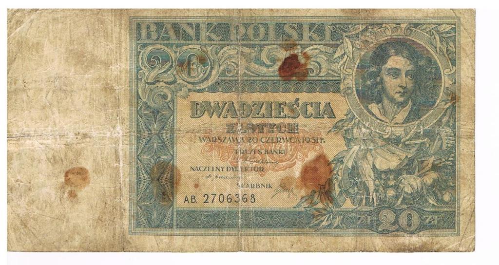 Polska 20 zł z 1931 roku