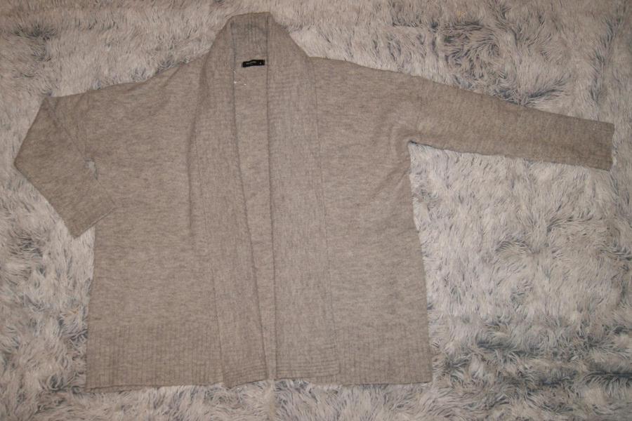 Reserved sweter narzutka oversize szary r. S/36